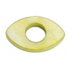 Shell Oval With Center Hole 15x25mm Green